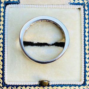 Stunning, 18ct, 18k, 750 white gold, Diamond 0.77ct half eternity, anniversary, wedding ring
