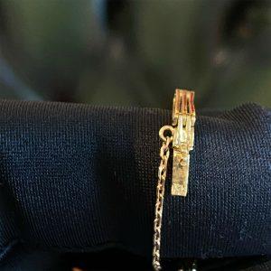 Art Deco, 18ct, 18k, 750 Gold Sapphire & Diamond articulated bracelet, C1920