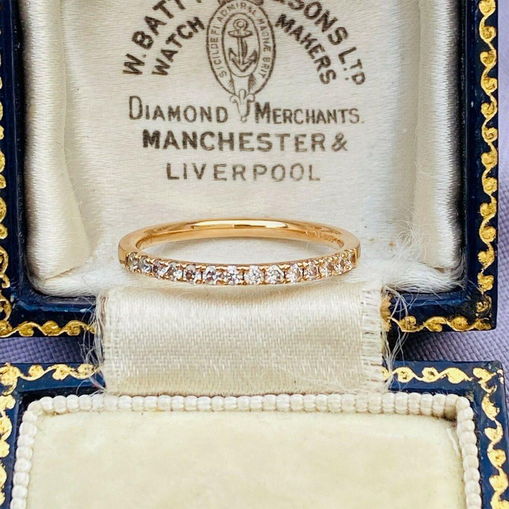 Pretty 18ct, 18k, 750 rose gold Diamond Eternity, stacking, anniversary Ring